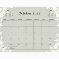 Nature Green 12 Month Wall Calendar By Lil    Wall Calendar 11  X 8 5  (12 Months)   D3oxkd5706s5   Www Artscow Com Oct 2019