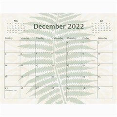 Nature Green 12 Month Wall Calendar By Lil    Wall Calendar 11  X 8 5  (12 Months)   D3oxkd5706s5   Www Artscow Com Dec 2019