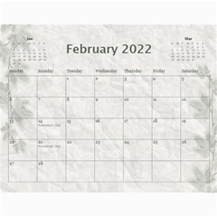 Nature Green 12 Month Wall Calendar By Lil    Wall Calendar 11  X 8 5  (12 Months)   D3oxkd5706s5   Www Artscow Com Feb 2019