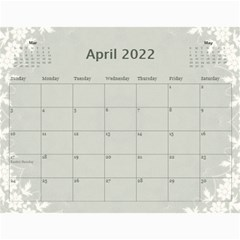 Nature Green 12 Month Wall Calendar By Lil    Wall Calendar 11  X 8 5  (12 Months)   D3oxkd5706s5   Www Artscow Com Apr 2019