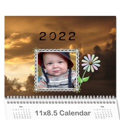 Sunset Pretty Calendar (12 Month) By Lil    Wall Calendar 11  X 8 5  (12 Months)   3o38ulwp13ck   Www Artscow Com Cover