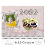 Pink and Blue Calendar - Wall Calendar 11  x 8.5  (12-Months)