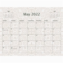 Pretty Lace Calendar (12 Month) By Lil    Wall Calendar 11  X 8 5  (12 Months)   0xg0184rf6z0   Www Artscow Com May 2015