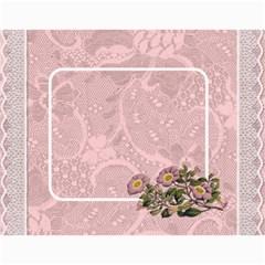 Pretty Lace Calendar (12 Month) By Lil    Wall Calendar 11  X 8 5  (12 Months)   0xg0184rf6z0   Www Artscow Com Month