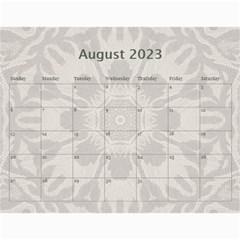 Pretty Lace Calendar (12 Month) By Lil    Wall Calendar 11  X 8 5  (12 Months)   0xg0184rf6z0   Www Artscow Com Aug 2015