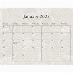 Pretty Lace Calendar (12 Month) By Lil    Wall Calendar 11  X 8 5  (12 Months)   0xg0184rf6z0   Www Artscow Com Jan 2015