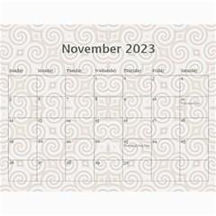 Pretty Lace Calendar (12 Month) By Lil    Wall Calendar 11  X 8 5  (12 Months)   0xg0184rf6z0   Www Artscow Com Nov 2015