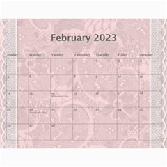 Pretty Lace Calendar (12 Month) By Lil    Wall Calendar 11  X 8 5  (12 Months)   0xg0184rf6z0   Www Artscow Com Feb 2015