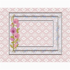 Pretty Lace Pink Calendar (12 Month) By Lil    Wall Calendar 11  X 8 5  (12 Months)   9r2uz5pd7fy8   Www Artscow Com Month
