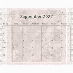 Pretty Lace Pink Calendar (12 Month) By Lil    Wall Calendar 11  X 8 5  (12 Months)   9r2uz5pd7fy8   Www Artscow Com Sep 2015