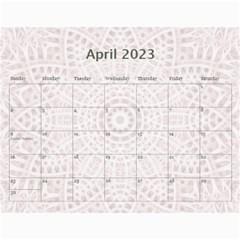 Pretty Lace Pink Calendar (12 Month) By Lil    Wall Calendar 11  X 8 5  (12 Months)   9r2uz5pd7fy8   Www Artscow Com Apr 2015