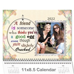 Forever Friends 12 Month Calendar By Lil    Wall Calendar 11  X 8 5  (12 Months)   5iivsnrsczl1   Www Artscow Com Cover