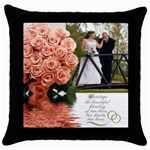 nm - Throw Pillow Case (Black)