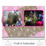 Pink Choc 2017 wall Calendar (any year) - Wall Calendar 11  x 8.5  (12-Months)