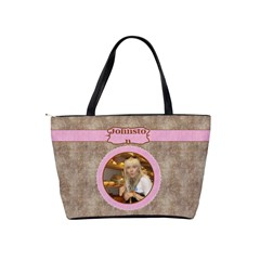 Pink Choc Shoulder Bag By Deborah   Classic Shoulder Handbag   Ln7syk9zybgu   Www Artscow Com Back