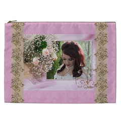 Pink Treasure Cosmetic Bag (xxl) By Deborah   Cosmetic Bag (xxl)   S5meqq5gw093   Www Artscow Com Front