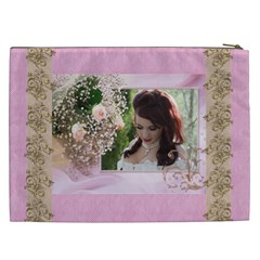 Pink Treasure Cosmetic Bag (xxl) By Deborah   Cosmetic Bag (xxl)   S5meqq5gw093   Www Artscow Com Back