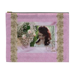 Pink Treasure Cosmetic Bag (xl) By Deborah   Cosmetic Bag (xl)   Jw3jpmazc7vn   Www Artscow Com Front