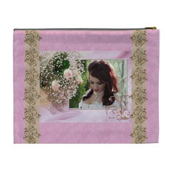 Pink Treasure Cosmetic Bag (xl) By Deborah   Cosmetic Bag (xl)   Jw3jpmazc7vn   Www Artscow Com Back