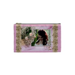 Pink Treasure Cosmetic Bag (small) By Deborah   Cosmetic Bag (small)   Fbryo0wbj9ox   Www Artscow Com Front