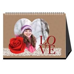 Love By Ki Ki   Desktop Calendar 8 5  X 6    Rf1lberr7ii7   Www Artscow Com Cover