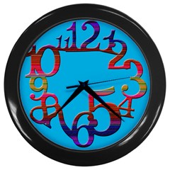 Wild Numbers Wall Clock (black) by Contest993860