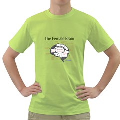 Female Brain Mens  T Shirt (green)