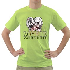 Zombie Assasin Mens  T Shirt (green)