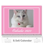 Pink Princess Wall Calendar (any year) 8.5x6 - Wall Calendar 8.5 x 6