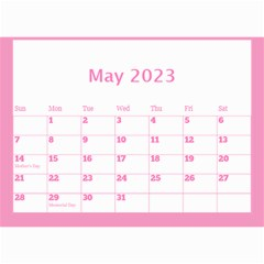 Pink Princess Wall Calendar (any Year) 8 5x6 By Deborah   Wall Calendar 8 5  X 6    Gu9vb6w3gc37   Www Artscow Com May 2018