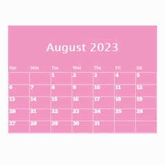 Pink Princess Wall Calendar (any Year) 8 5x6 By Deborah   Wall Calendar 8 5  X 6    Gu9vb6w3gc37   Www Artscow Com Aug 2018
