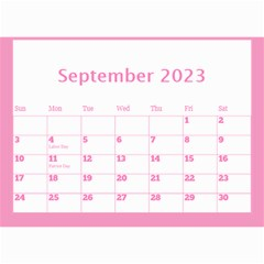 Pink Princess Wall Calendar (any Year) 8 5x6 By Deborah   Wall Calendar 8 5  X 6    Gu9vb6w3gc37   Www Artscow Com Sep 2018