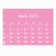 Pink Princess Wall Calendar (any Year) 8 5x6 By Deborah   Wall Calendar 8 5  X 6    Gu9vb6w3gc37   Www Artscow Com Apr 2018