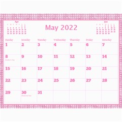Pink Choc Wall Calendar 11x8 5 By Deborah   Wall Calendar 11  X 8 5  (12 Months)   L9nvb0rf0ttj   Www Artscow Com May 2018
