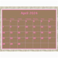 Pink Choc Wall Calendar 11x8 5 By Deborah   Wall Calendar 11  X 8 5  (12 Months)   L9nvb0rf0ttj   Www Artscow Com Apr 2018