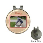 One Big Ball Golf Ball Marker Hat Clip