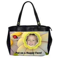 Happy Face Office Handbag By Joy Johns   Oversize Office Handbag (2 Sides)   1ny5urr4ro82   Www Artscow Com Front