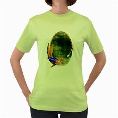 Even Heroes Gotta Eat Womens  T Shirt (green)
