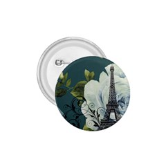 Blue Roses Vintage Paris Eiffel Tower Floral Fashion Decor 1 75  Button by chicelegantboutique