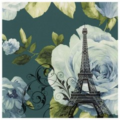 Blue Roses Vintage Paris Eiffel Tower Floral Fashion Decor Canvas 20  X 20  (unframed)