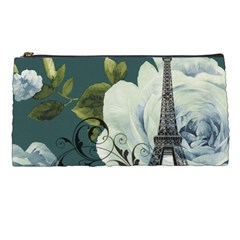 Blue Roses Vintage Paris Eiffel Tower Floral Fashion Decor Pencil Case by chicelegantboutique