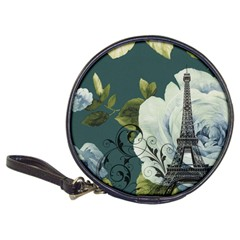 Blue Roses Vintage Paris Eiffel Tower Floral Fashion Decor Cd Wallet by chicelegantboutique
