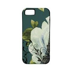 Blue Roses Vintage Paris Eiffel Tower Floral Fashion Decor Apple Iphone 5 Classic Hardshell Case (pc+silicone) by chicelegantboutique