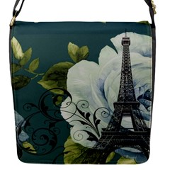 Blue Roses Vintage Paris Eiffel Tower Floral Fashion Decor Removable Flap Cover (small)