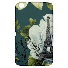 Blue Roses Vintage Paris Eiffel Tower Floral Fashion Decor Samsung Galaxy Tab 3 (8 ) T3100 Hardshell Case  by chicelegantboutique