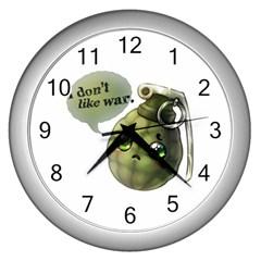 Grenade  Wall Clock (Silver) by Contest1734409