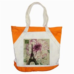 Purple Floral Vintage Paris Eiffel Tower Art Accent Tote Bag by chicelegantboutique