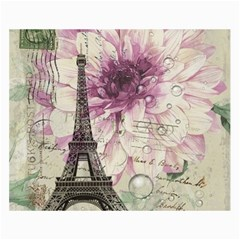 Purple Floral Vintage Paris Eiffel Tower Art Canvas 18  X 24  (unframed) by chicelegantboutique