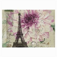 Purple Floral Vintage Paris Eiffel Tower Art Glasses Cloth (large) by chicelegantboutique