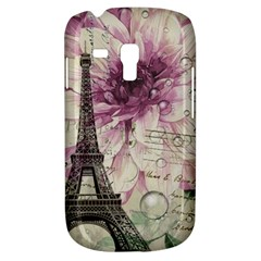 Purple Floral Vintage Paris Eiffel Tower Art Samsung Galaxy S3 Mini I8190 Hardshell Case by chicelegantboutique